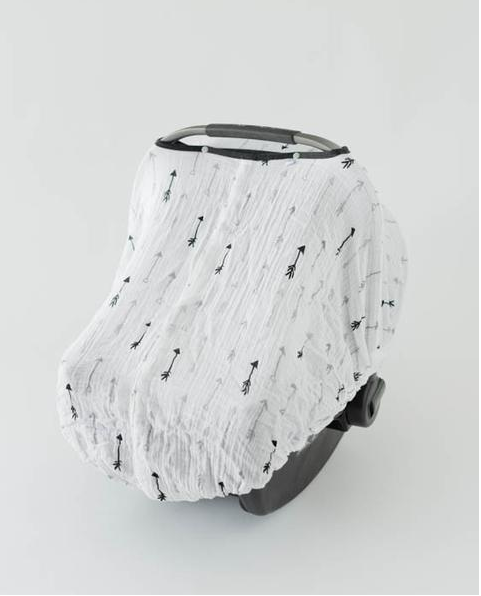 Cotton Muslin Car Seat Canopy-Arrow