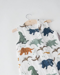 Cotton Muslin Sleep Bag-Dino Friends