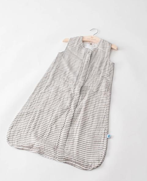 Cotton muslin Sleep Bag -Grey Stripe