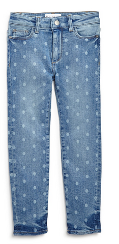Faded Polka-Dot Skinny Jeans