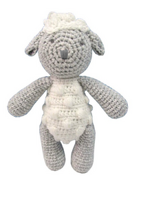 albetta sheep knit rattle - little birdies boutique