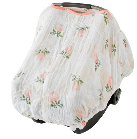 Watercolor Rose Car Seat Canopy