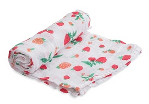 Cotton Swaddle - Strawberry