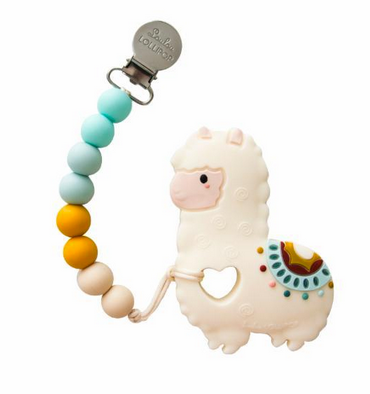 loulou lollipop silicone llama teether - little birdies boutique