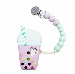 Bubble Milk Tea Teether in Lilac Mint