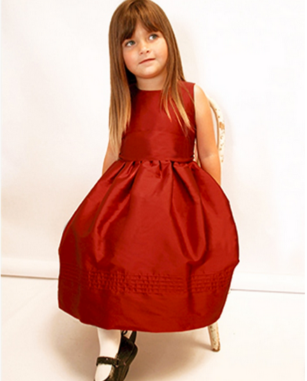 Red Silk 'Surprise' Overlay Dress