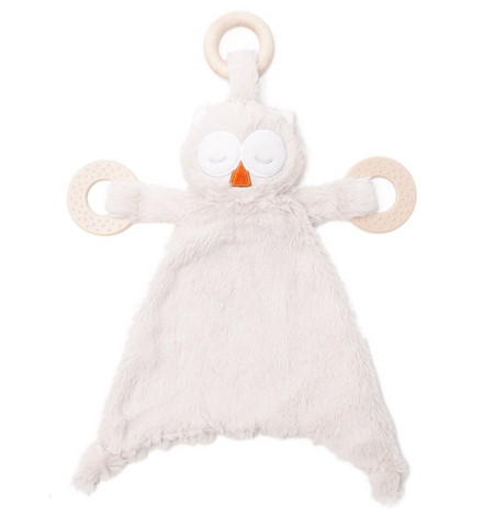 bella tunno oscar the owl lovie with teething rings
