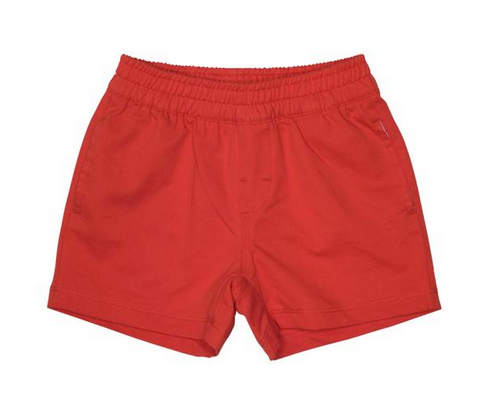 Sheffield shorts in richmond red cotton canvas