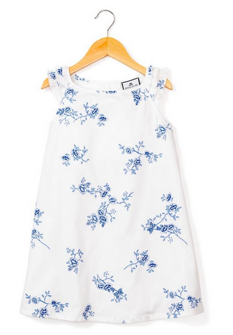 indigo floral girls nightgown buy petite plume