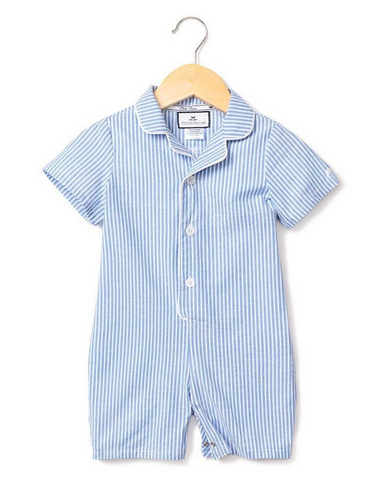 petite plume french blue seersucker romper