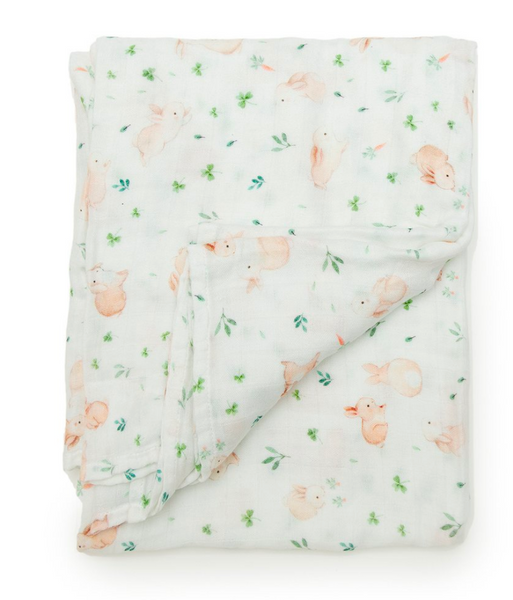 bunny meadow swaddle lou lou lollipop