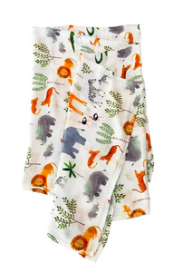 loulou lollipop safari jungle muslin swaddle blanket