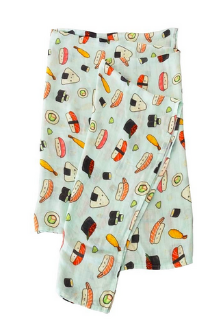 loulou lollipop sushi swaddle blanket