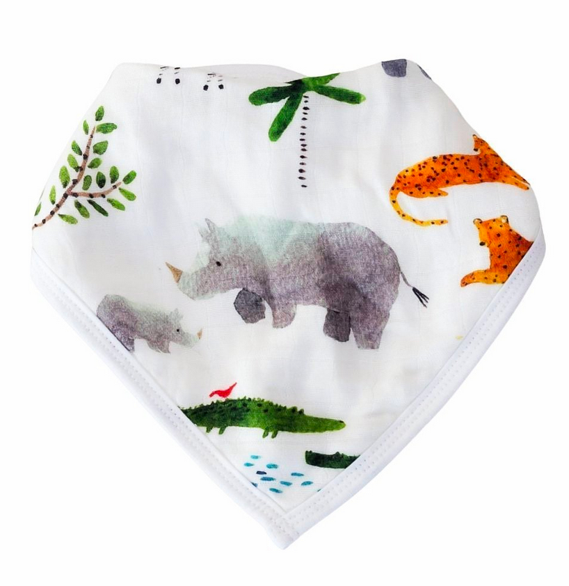 Bandana Bib Set- Safari Jungle