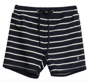 wheat clothing swim shorts eli navy in stripes