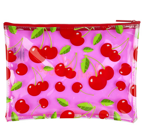 sunnylife australia see through cherry pouch mon cherie