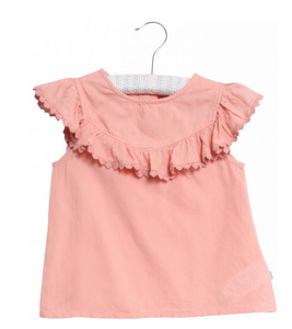wheat clothing benedikte blouse in rose tan