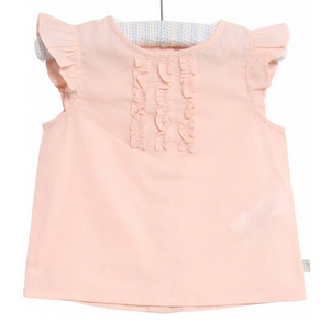 wheat clothing brand freya powder pink blouse