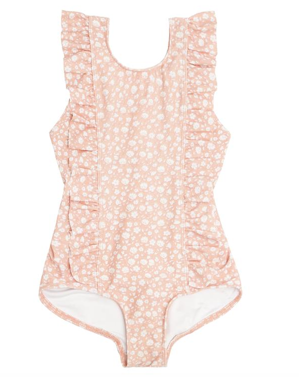 melone floral ruffle one piece