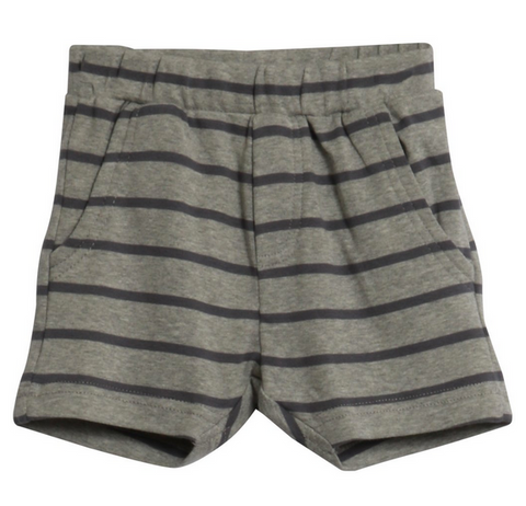 Melange Grey Stripe Shorts