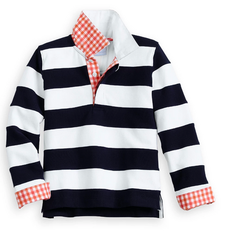 Fall Fritz Rugby Shirt - Navy Stripe