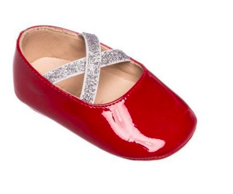 elephantito baby and child red patent crib shoe