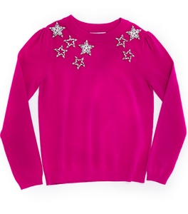 Milly Mini Starry fuchsia top