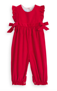 bella bliss berkley overall in red corduroy