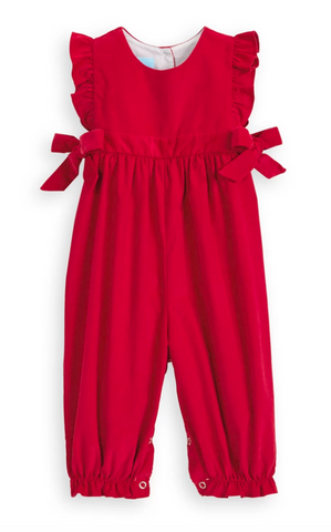 Berkley Overall in Red Corduroy