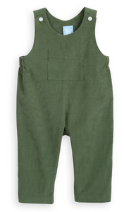 bella bliss hunter green corduroy overall