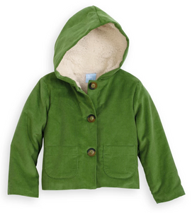 Bella Bliss Parson Corduroy coat in fern green