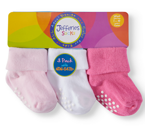 Multi Pack Turn Cuff Socks - Pink
