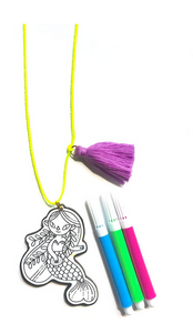 gunner and lux DIY mermaid necklace glitter guide teen vogue riley and john