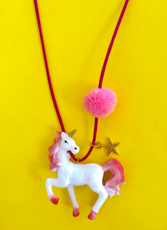 Rebel The Pink Unicorn Necklace