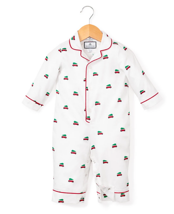 petite plume holiday journey baby romper