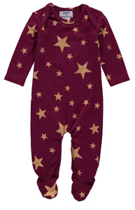 Burgundy Stars Footie