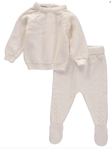 2 piece knit newborn sweater set