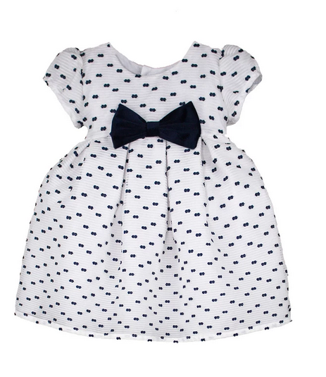 isabel garreton navy dress with bow