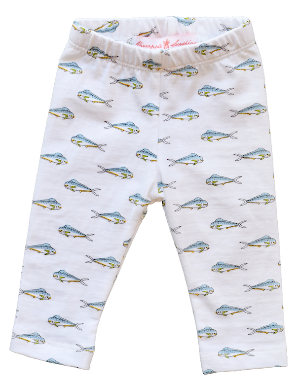 Pineapple Sunshine Mahi Mahi Fish Leggings