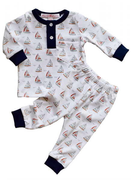 Sailboat Pajama Set