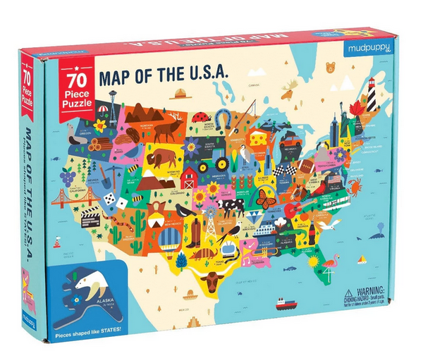 Mudpuppy map of the U.S.A. 70 piece puzzle