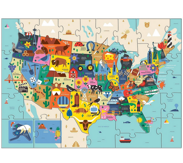 Map of the U.S.A. 70 Piece Puzzle