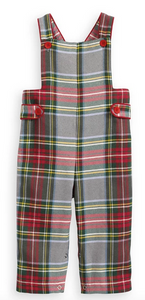 Bella Bliss Field Overall in Kingston Plaid