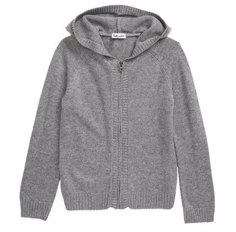 Splendid littles boys grey cardigan zip sweater