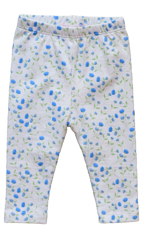 Pineapple Sunshine Arabella blue floral legging