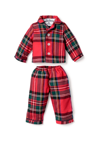 Petite plume imperial plaid doll pajamas