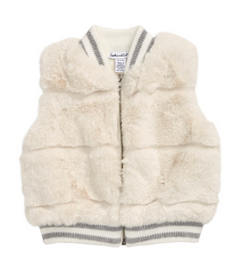 splendid girls faux fur vest