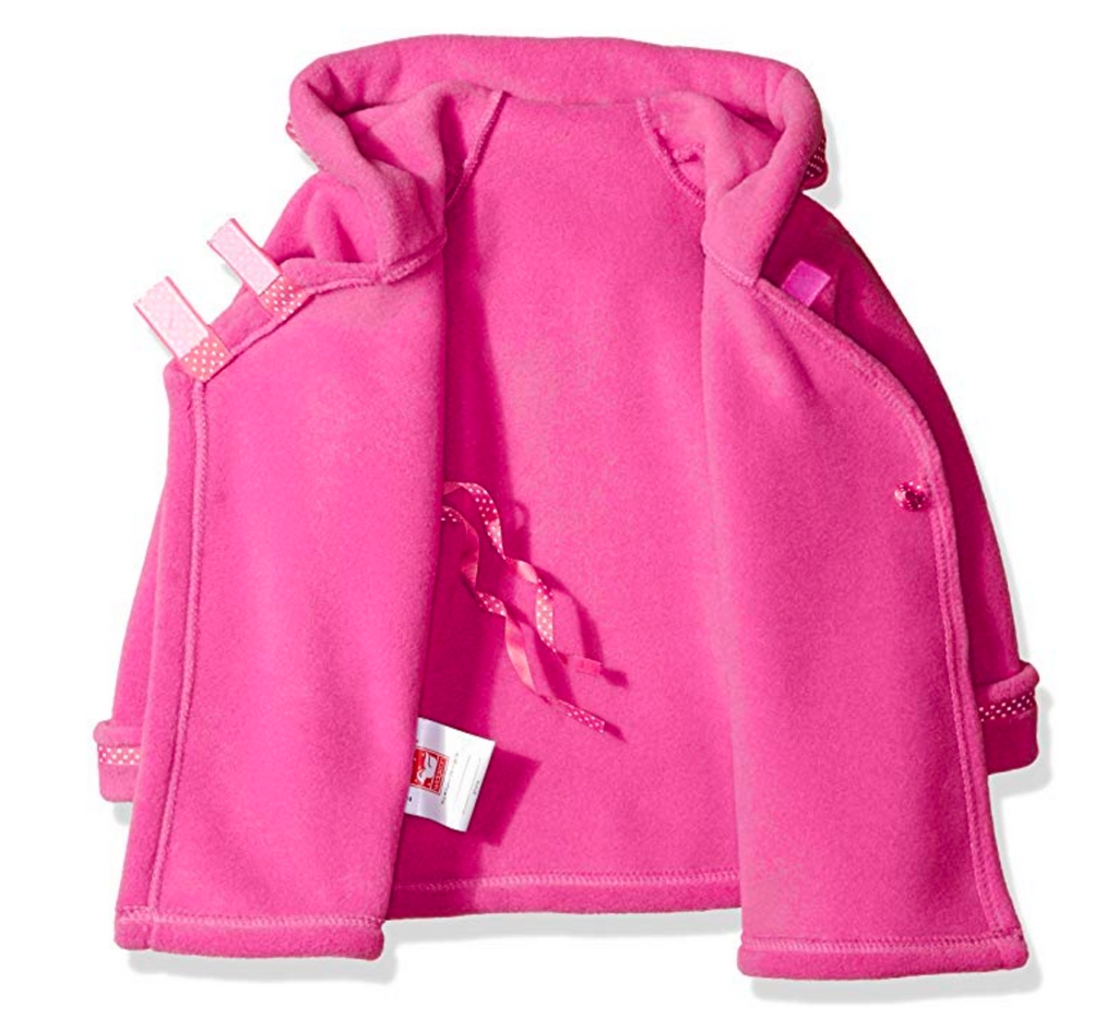 Warmplus Favorite Jacket- W/ Dot Ribbon Fuchsia