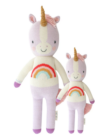 Cuddle+Kind Zoe the Unicorn knit doll