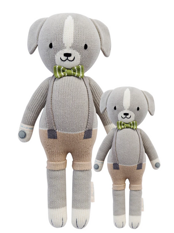Cuddle+Kind Noah the dog knit doll
